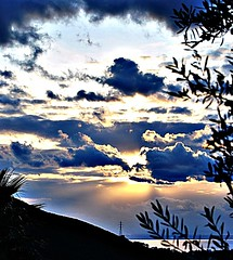 suset over Patras (DubeFranz) Tags: sunset sea highcontrast greece patras achaia sunbehindclouds nikond3000 breathtakingsunset