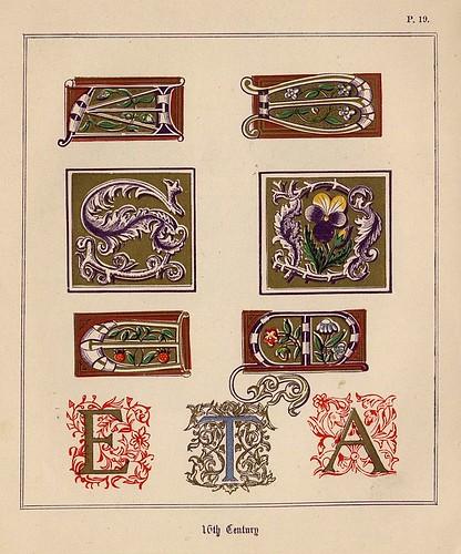 013- Medieval Alphabets and Initials 1886- F.G. Delamotte- Copyright 2006 illuminated-book.com& libros-iluminados.com