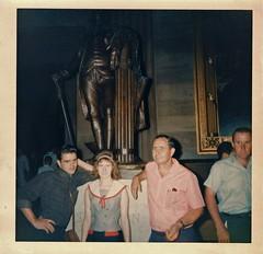 Capitol Rotunda, Washington, D.C. (Old Shoe Woman) Tags: family usa childhood statue washingtondc uscapitol scanned oldphoto august1964 statueofpresidentwashington lirclass