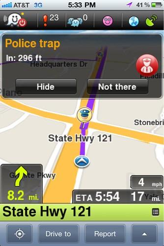 Police Reports on Waze