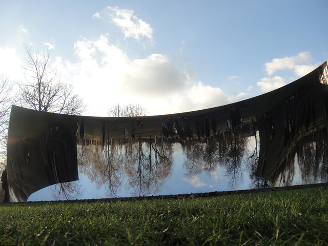 Anish Kappor - 'C-Curve' 2007, Stainless Steel at Hyde Park London