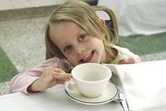 Tea Time (Jenn Durfey) Tags: family tea sister daughter pinky littlegirl teatime teaparty pretend pretendplay girlsmiling pinkydrinkingtea littlegirlteaparty
