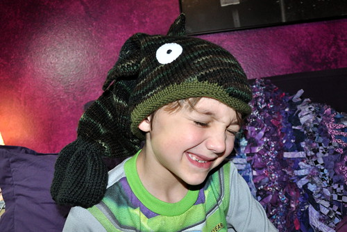 roly poly fish head hat