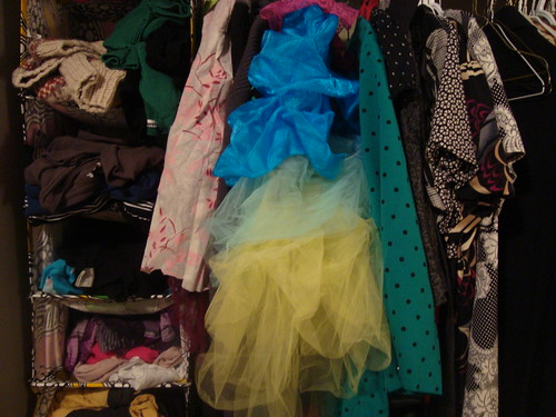 closet after the introduction of colourful things