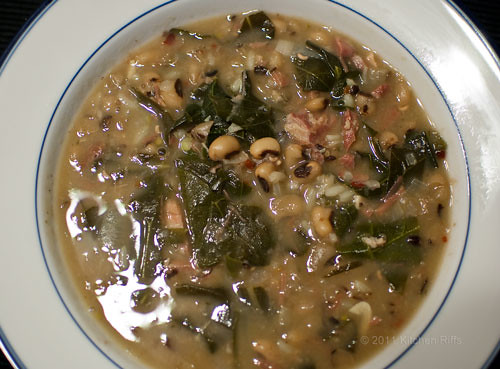 Black-Eyed Pea and Collard Green Soup