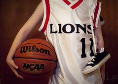 ~12/365~ Balla' (DocUNC) Tags: basketball canon ball shoes quote pad player lions jersey 365 practice wiltchamberlain 5dmk2 docunc