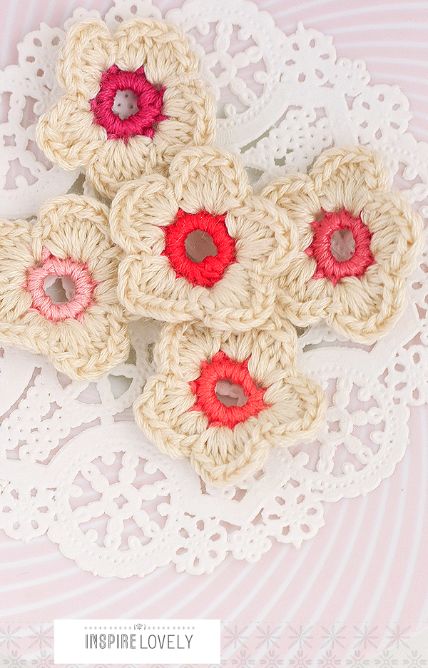 handmade crochet flowers xo
