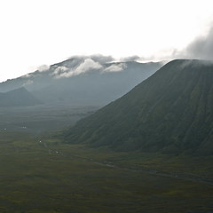 Crossing the Caldera (wawrus) Tags: park travel sea indonesia volcano java sand asia east mount national caldera southeast bromo semeru tengger