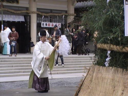 とんど 広島護国神社 2011画像 12