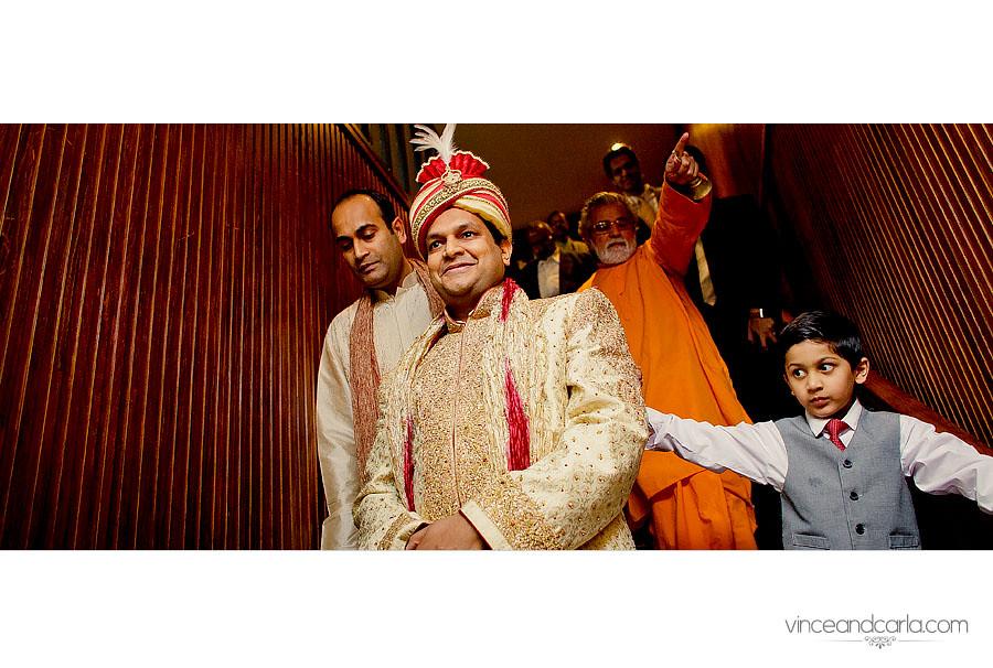 downstairs groom