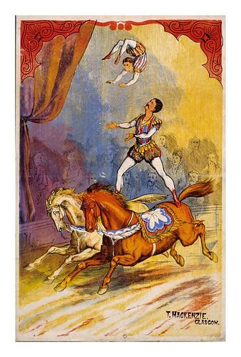017-Escena de circo-equilibrio a caballo-siglo XIX-Les Siles maison du libre et de l'affiche