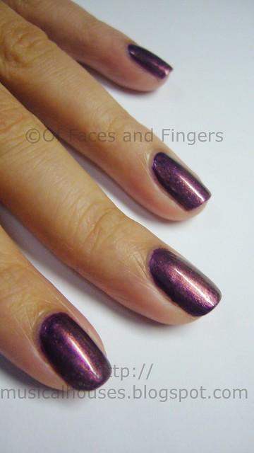 orly fantasea barry m vivid purple