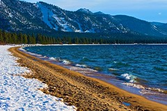 Tahoe Lake at Nevada Beach (nejmantowicz) Tags: winter lake nevada tahoe nejmantowicz absolutelystunningscapes canong974444mm