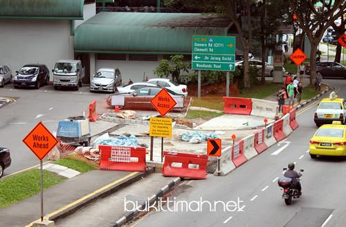 Bukit Timah Food Centre Car Park Entrance / Exit renovation
