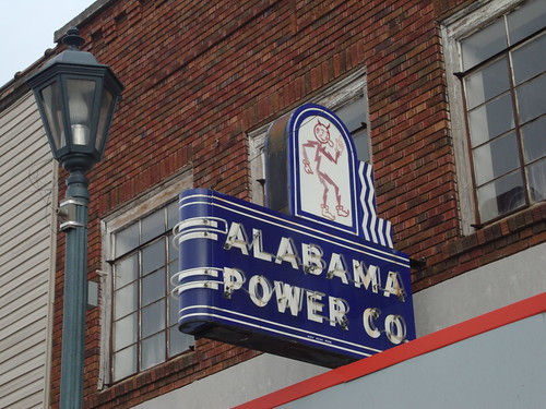 Alabama Power Company Neon Sign, Reddy Kilowatt, Attalla AL