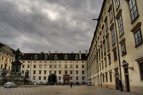 Hofburg patio. Vienna. Patio del Hofburg. Viena