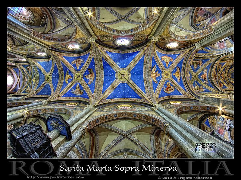 Roma - Santa María Sopra Minerva - Techo