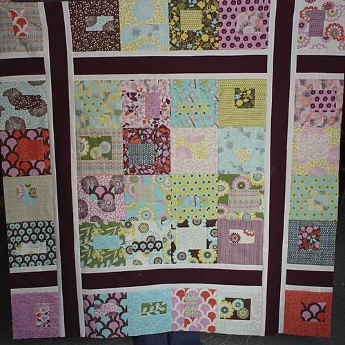 Sugar Pop quilt top Jan '11