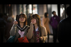 Best friend (soshiro) Tags: christmas street girl japan night canon tokyo candid streetphotography illumination   marunouchi  eos5d  ef135mmf2l