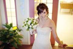 Ashley Diaz (Carter Moore) Tags: flowers wedding smile canon 50mm bride f14 marriage happiness 5d laughter anticipation joyful boquet ftlrphotography cartermoore