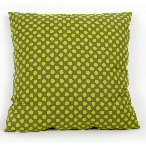 Cushion Cover Ta Dot Moss by Michael Miller