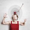 Near Miss (YetAnotherLisa) Tags: red selfportrait apple danger target arrow props dangerahead teleidoscope totw balancedapple