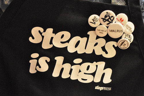 STEAKS IS HIGH APRONS w/ FLARE