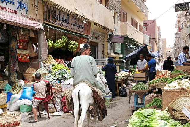 エジプト ルクソールの路地スーク