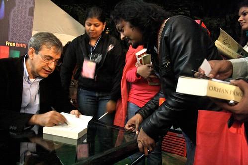 Author Spotting in Jaipur Lit Fest - Orhan Pamuk
