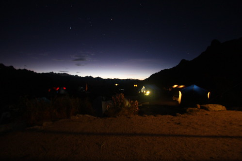Camp 3 at night