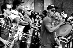 Arrollando (aquigabo!) Tags: montreal city town party parade show people music happiness crowd bw blackandwhite canon eos rebel aquigabo dsrl t5i 700d 50mm monochrome joy movement summer urban culture contrast sunlight shadows light celebration