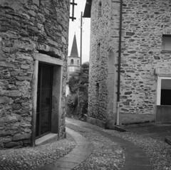Old Village (sandrovonah) Tags: homedeveloped 6x6 mediumformat 120film ilford film analog blackwhite bw ticino switzerland hasselblad ilfordfp4 ilfordfp4125 hasselblad500 hasselblad500c hassi monochrome mountains village