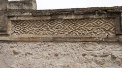 detail mosaic (Val in Sydney) Tags: cactus church architecture mexico pattern mosaic frieze oaxaca mosaique zona eglise mitla inah fretwork zapotec arqueologica mictln eglisia