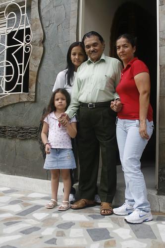 Caballero Gaucho y familia