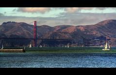ISF (kurtolo81) Tags: sanfrancisco california bridge blue red sky usa love golden bay boat gate san francisco barca honeymoon nuvole mare unitedstatesofamerica fabio ponte nave cielo goldengate rosso azzurro hdr uniti  baia lunadimiele barcaavela stati pregno statiunitidamerica damerica kurtolo kurtolo81 isf mygearandme