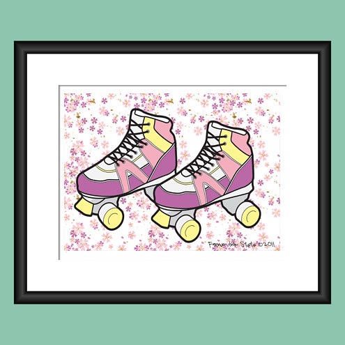 Skate Into Spring Art Print