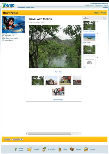 Screenshot of Individual Home Page showing Gallery section