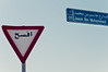 Jasim Bin Mohammed Street (christian.senger) Tags: road city travel blue red sky urban abstract sign digital geotagged nikon asia outdoor steel minimalism brass doha qatar lightroom d300 gettyvacation2010 christiansenger:year=2011