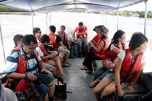 on the boat to Pulau tiga