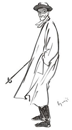 004 One of Yohji Yamamoto's drawing from A-W 1990
