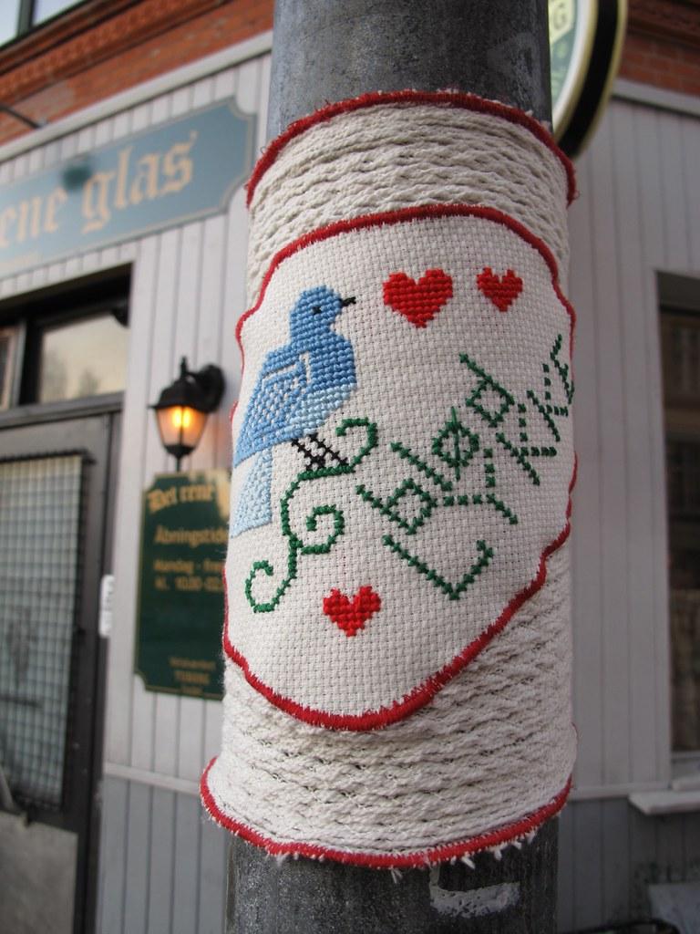 Knit bombing