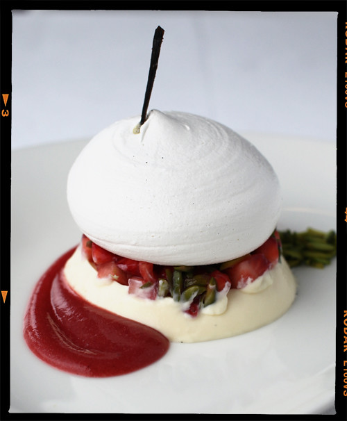 taste of summer, panna cotta with pavlova