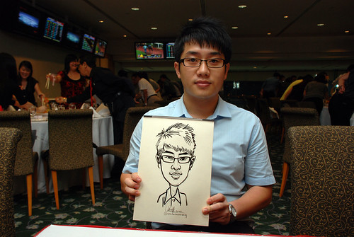 caricature live sketching for Thorn Business Associates Appreciate Night 2011 - 17