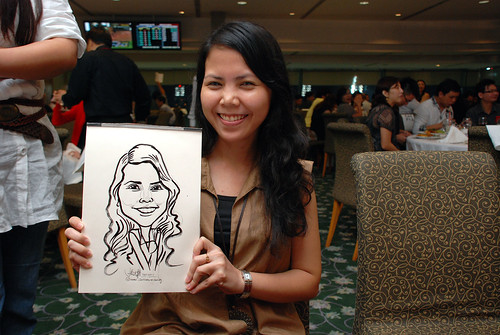 caricature live sketching for Thorn Business Associates Appreciate Night 2011 - 22