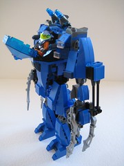 Blue Brawler (updated) (Built4Play) Tags: blue robot lego mecha mech moc exo brawler