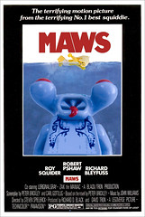 MAWS (ted @ndes) Tags: movie poster lego mini system figure jaws parody spoof maws squidman squiddie