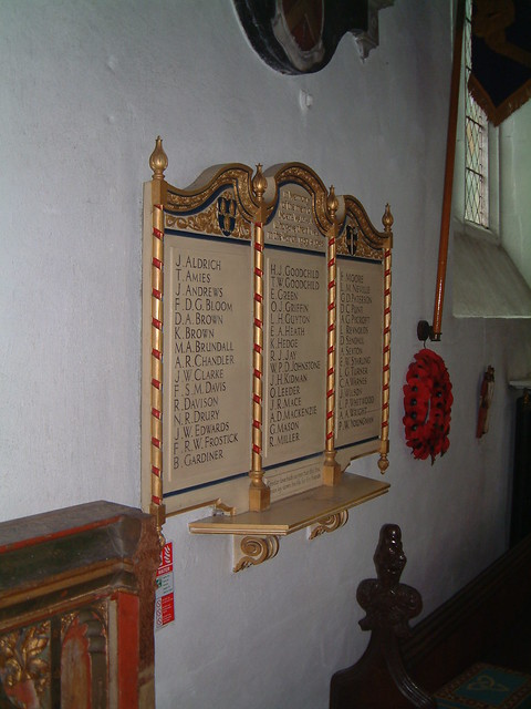 St Nicholas North Walsham - WW2 Roll of Honour