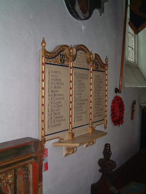 St Nicholas North Walsham - WW2 Roll of Honour by Moominpappa06