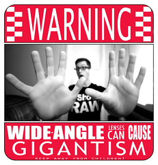 Countdown to 30 - Day 130 (Andy. Booth) Tags: people sign warning poster photography hands funny shoot joke wideangle lenses gigantism i andyboothphotography