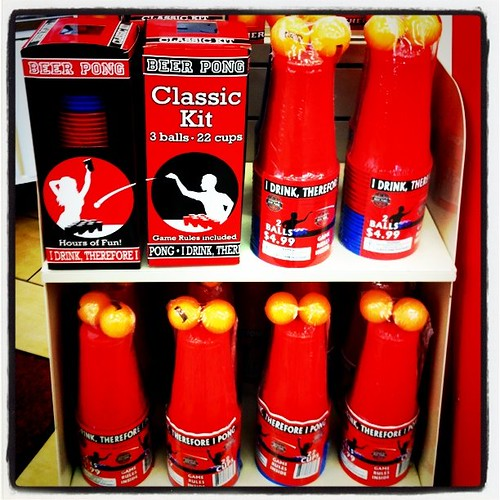 "7-11 is selling a ""Classic Beer Pong"" kit. Apparently it does not include beer. So it just plastic cups & balls?"